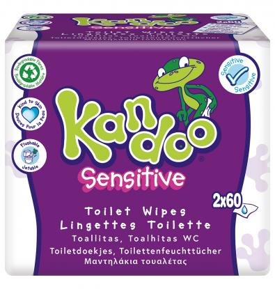 TOALLITAS WC KANDOO SENSITIVE 100 UNIDADES