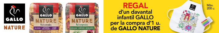 Pasta Gallo Nature 400 g amb davantall de regal
